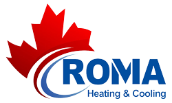 Roma Heating Furnace heating installation HVAC ac repair heating rebate Hot Water Tanks, Boilers BC Furnace Repairs & Sales Logo