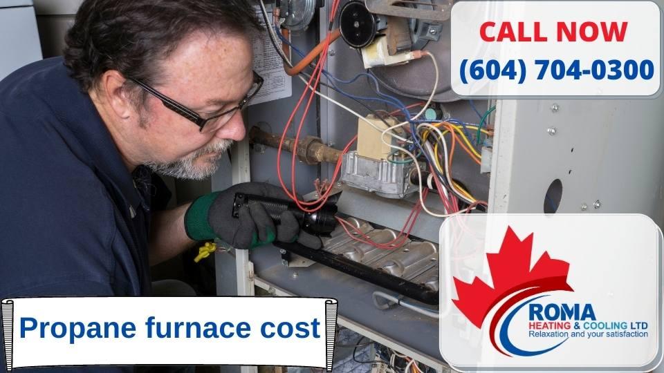 Propane furnace cost