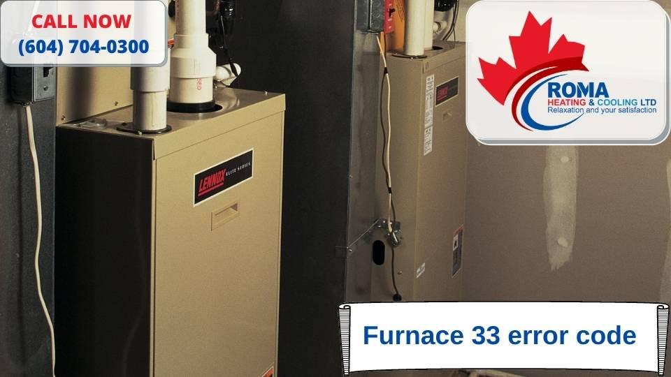 Furnace 33 error code