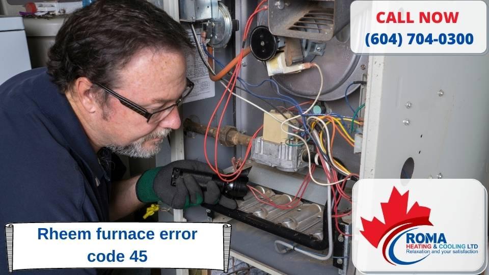Rheem furnace error code 45