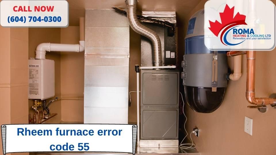 Rheem furnace error code 55