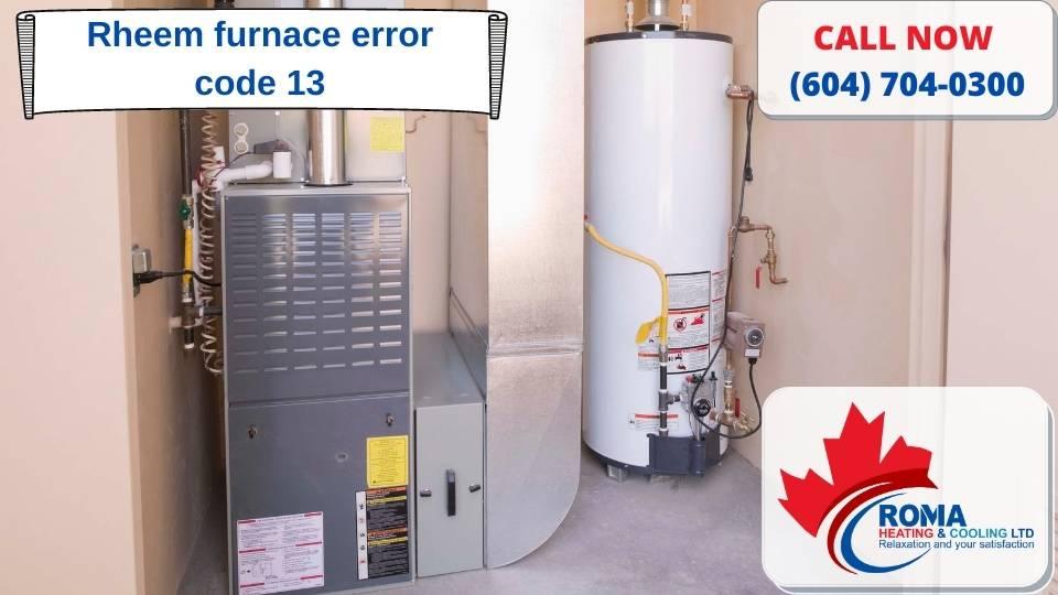 Rheem furnace error code 13