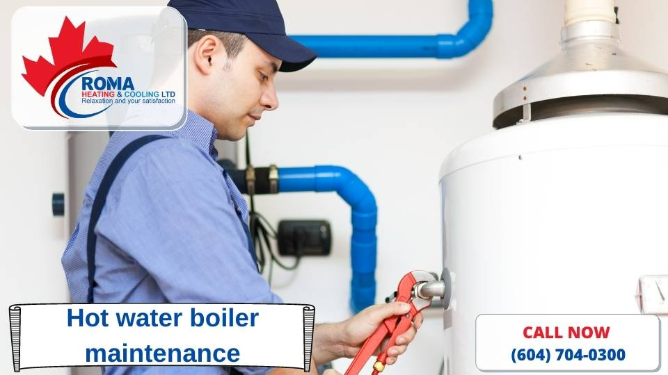 Hot water boiler maintenance