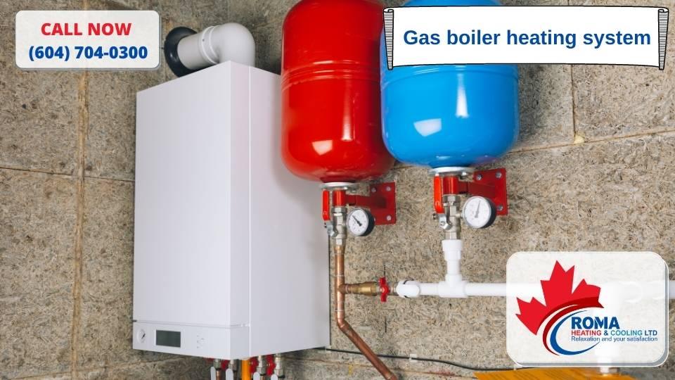 Gas boiler heating system