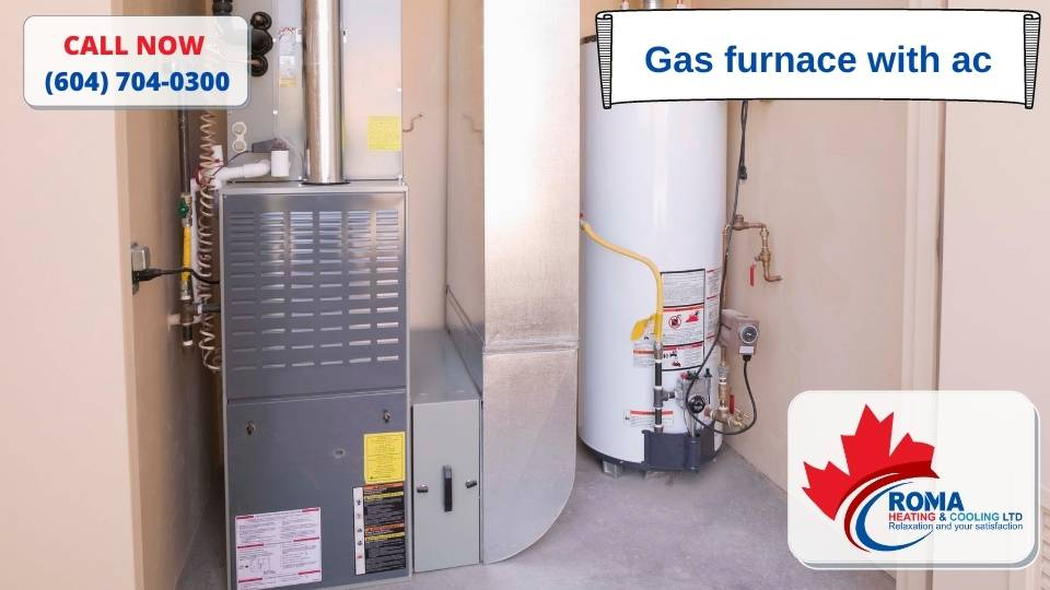 Gas furnace with ac