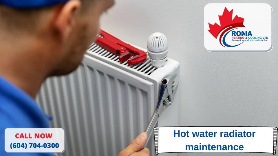 Hot water radiator maintenance