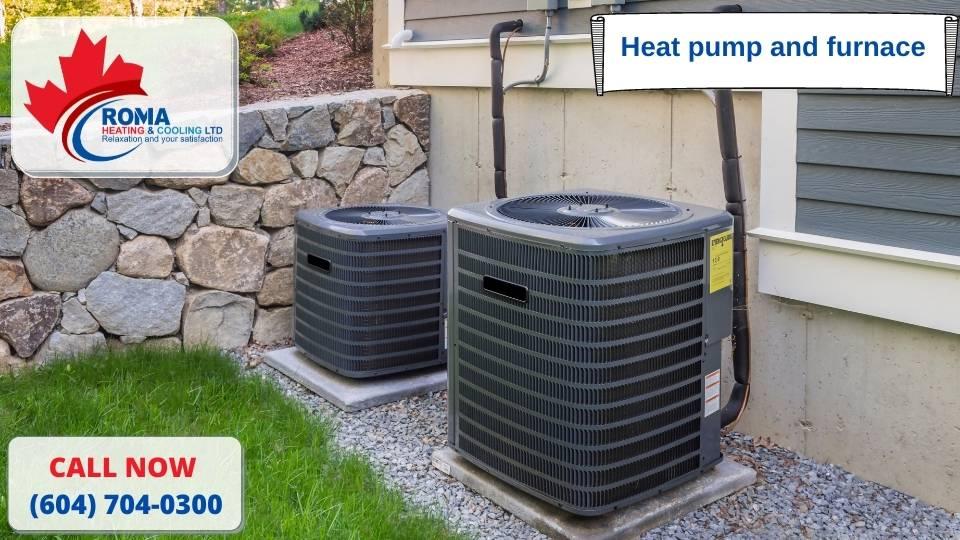 Heat pump and furnace