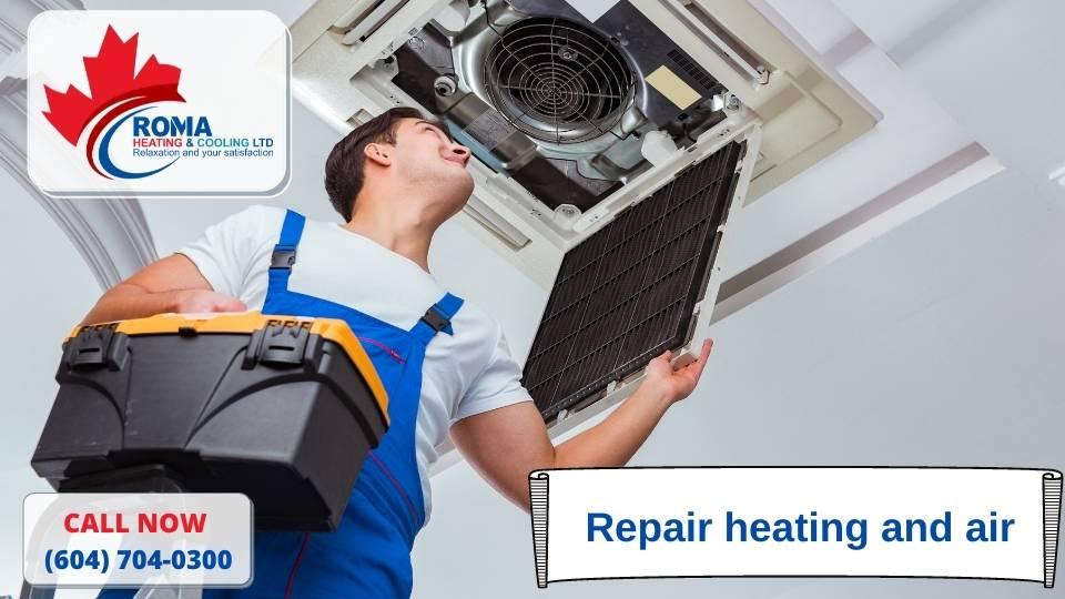 Repair heating and air