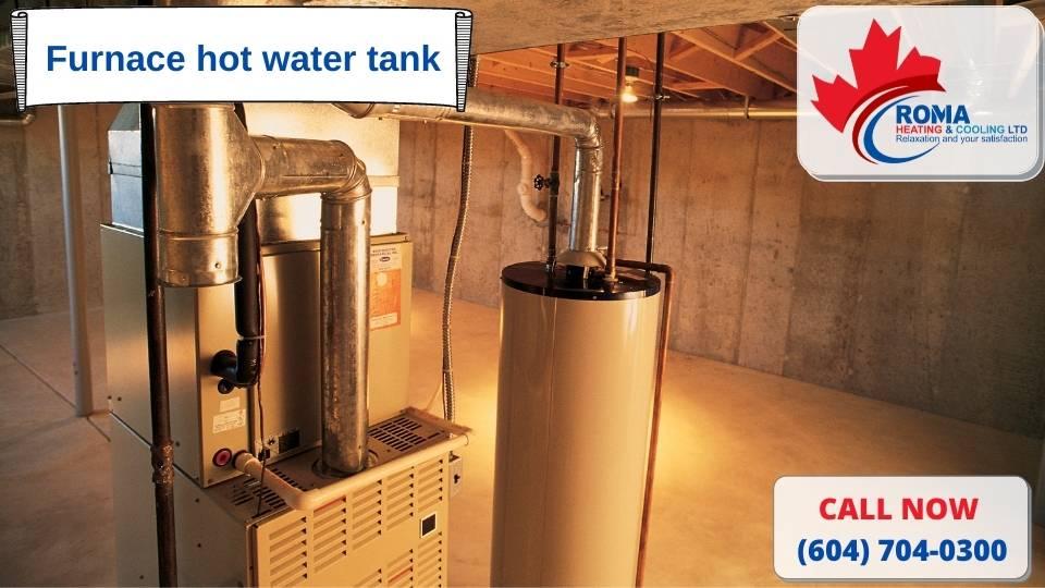 Furnace hot water tank