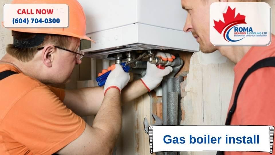 Gas boiler install