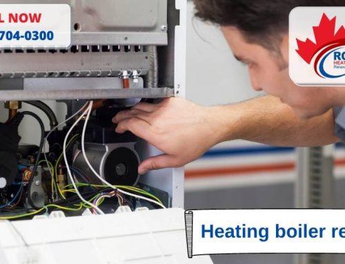 Heating boiler repair